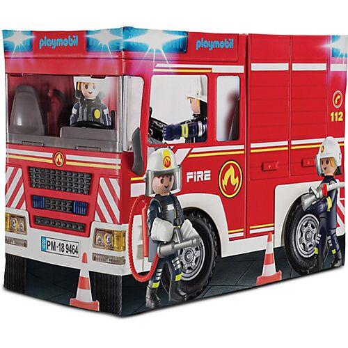 PLAYMOBIL® Playmobil Feuerwehrauto-Spielzelt rot-kombi