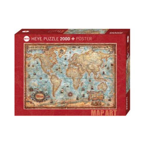 HEYE Puzzle The World, 2000 Teile