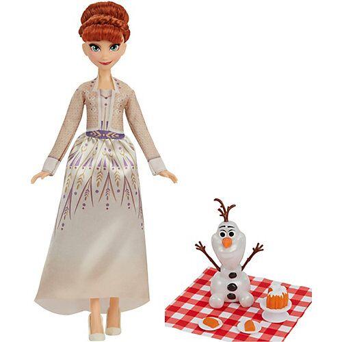 Hasbro Disney Die Eiskönigin 2 Annas und Olafs Herbstpicknick, Olaf Puppe, Anna Puppe mit Kleid und  Mode-Accessoires, Kinder ab 3 Jahren bunt  Kinder