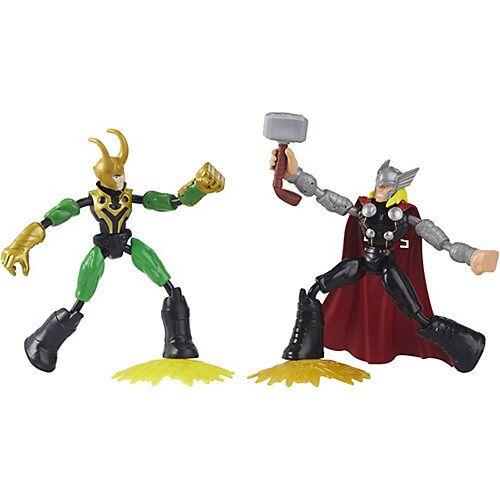Hasbro Marvel Avengers Bend and Flex Thor gegen Loki Action-Figuren, 15 cm bunt