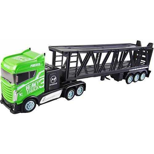 Amewi Autotransporter 1:16 - 2,4GHz, 15 km/h grün-kombi