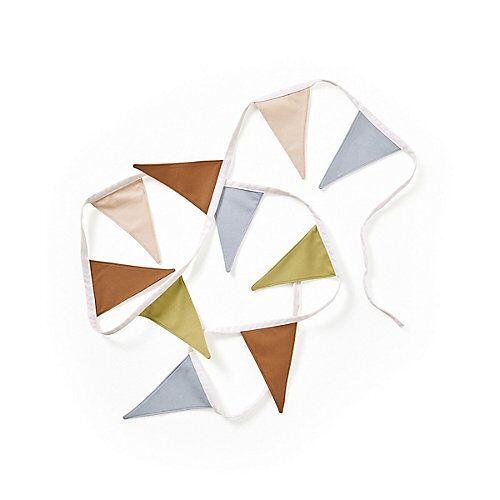 Kids Concept Wimpelgirlande aus Stoff beige 2,9m Girlanden mehrfarbig