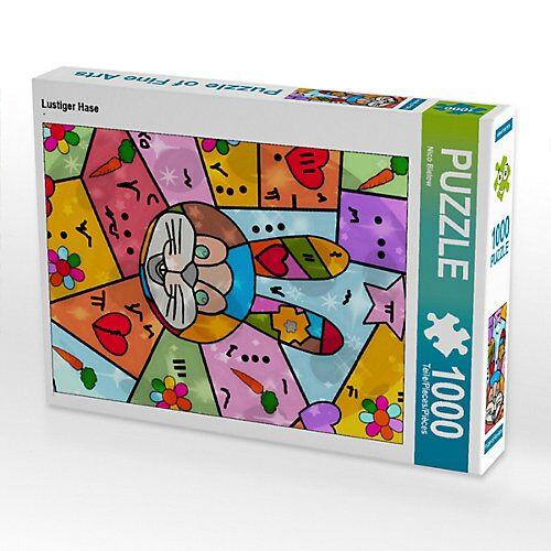 CALVENDO® Lustiger Hase Foto-Puzzle Bild von Nico Bielow Puzzle