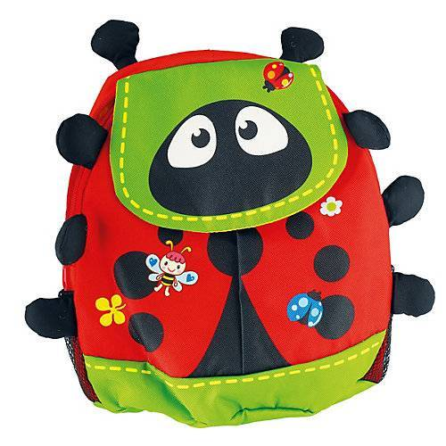 bieco Kinderrucksack Käfer ca. 38x15x36 cm Rucksack Kinder Mini Rucksack Kindergarten Kindergartenrucksäcke rot