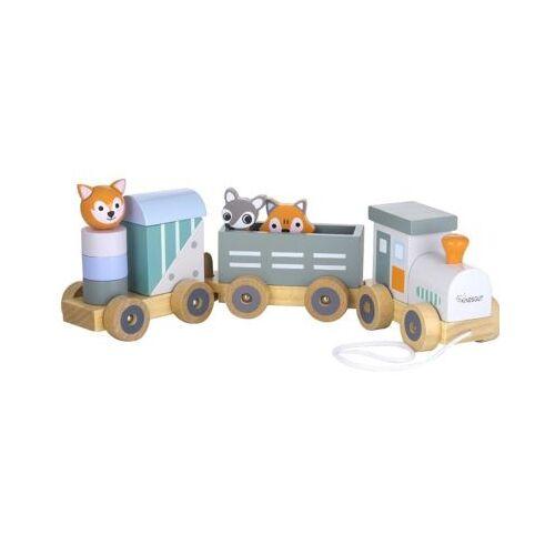 KINDSGUT Holz-Eisenbahn Spielzeugeisenbahnen bunt