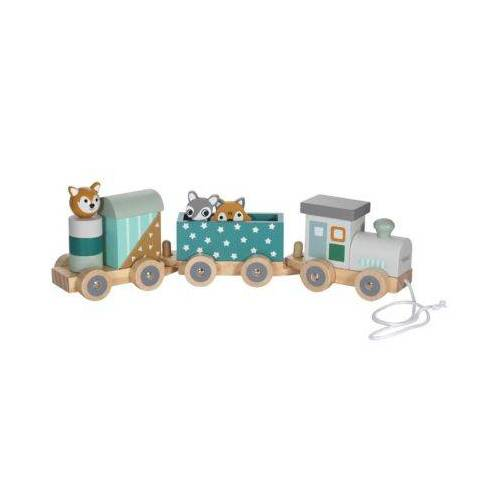 KINDSGUT Holz-Eisenbahn Spielzeugeisenbahnen mehrfarbig