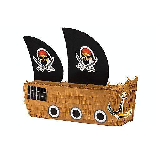 Pinata Piratenschiff braun