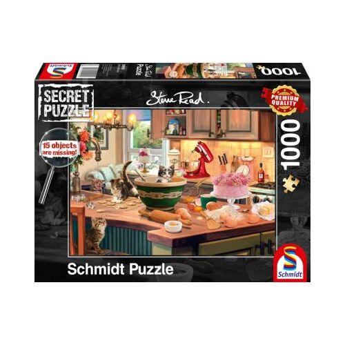 Schmidt Spiele Puzzle Secret P. Am Küchentisch, 1.000 Teile
