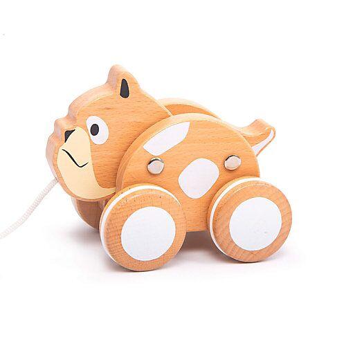 IGGY Nachziehhund - Bulldog Nachziehspielzeug schwarz/weiß