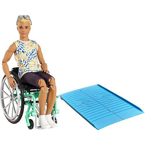 Mattel Barbie Fashionistas Ken Puppe (blond) mit Rollstuhl, Anziehpuppe