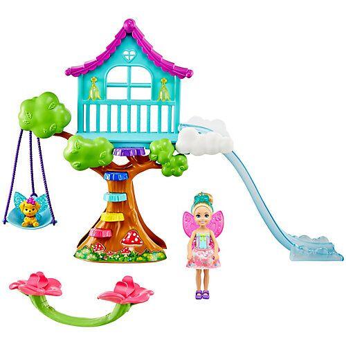 Mattel Barbie Dreamtopia Chelsea Regenbogen-Schaukel-Spielset mit Puppe