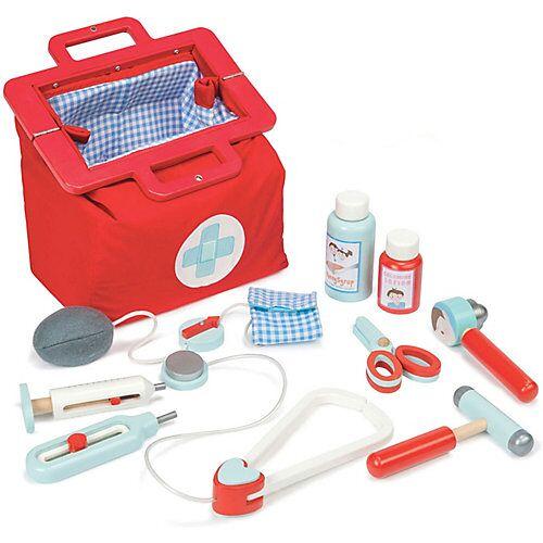 Le Toy Van Doktor Koffer - Tasche mit Holz-Arztzubehör bunt