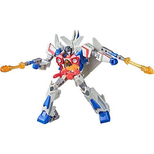 Hasbro Transformers Bumblebee Cyberverse Adventures Spielzeug Deluxe-Klasse Starscream Action-Figur, Seeker Strike Action Attacke, 12,5 cm