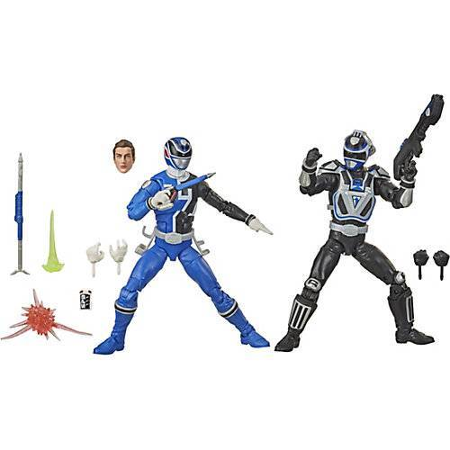 Hasbro Power Rangers LC S.P.D. B-Squad Blauer Ranger Vs A-Squad Blauer Ranger