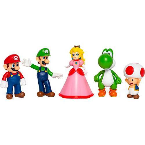 Super Mario Figuren 6,5cm 5er Set bunt