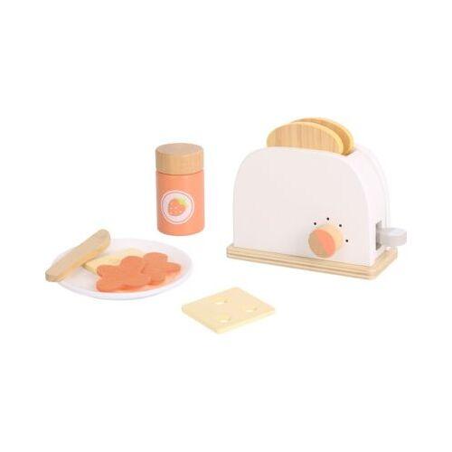 Tooky Toy Toaster Set mit Geschirr aus Holz
