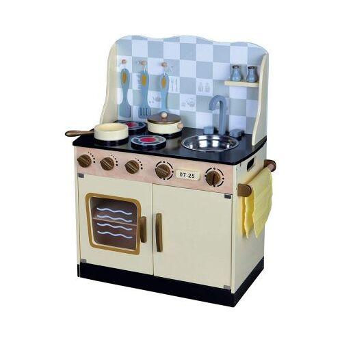 best for kids Kinderküche Kinderküche Spielküche aus Holz mit Zubehör COUNTRY blau