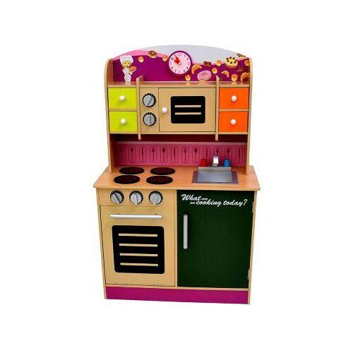 best for kids Kinderküche Kinderküche Spielküche aus Holz mit Zubehör violett