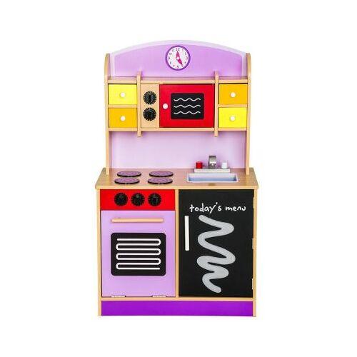 best for kids Kinderküche Kinderküche Spielküche aus Holz mit Zubehör Sweet violett