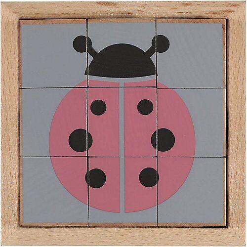KINDSGUT Holzwürfel-Puzzle Tiere Würfelpuzzle