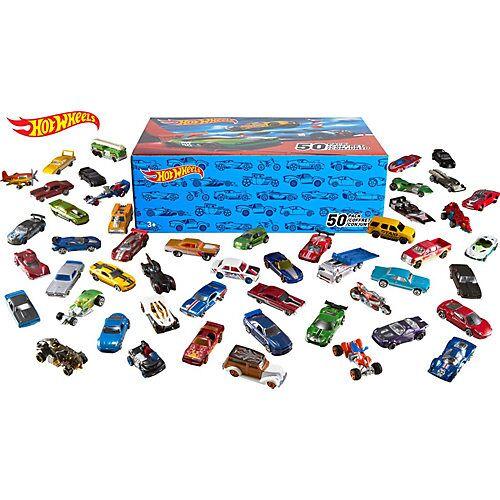Mattel Hot Wheels 50er Geschenkset, Spielzeugautos Autorennbahn, Spielautos  Kinder