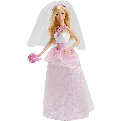 Mattel Barbie Braut Puppe (blond), Anziehpuppe, Barbie Hochzeit, Barbie Hochzeitskleid