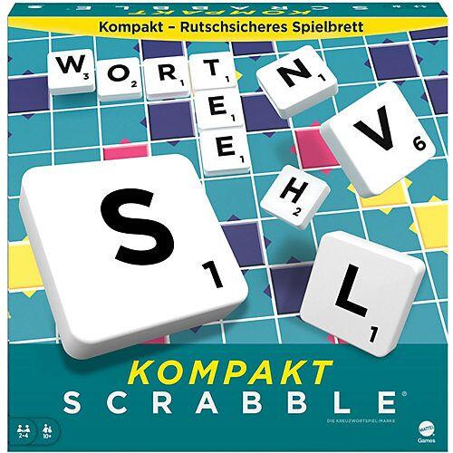 Mattel Games Scrabble Kompakt, Gesellschaftsspiel, Brettspiel, Reisespiel