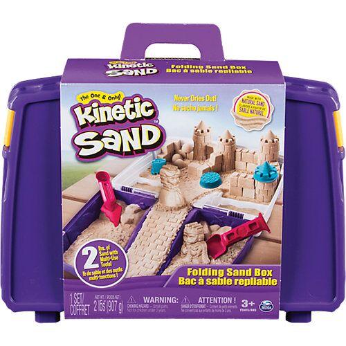 Spin Master Kinetic Sand™ Transportabler Sandkasten, 907g + 6-tlg. Zubehör