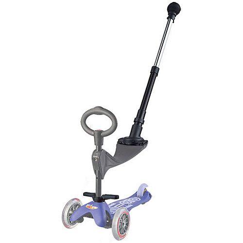 Micro Schiebestange Laufrad und mini Scooter schwarz  Kleinkinder