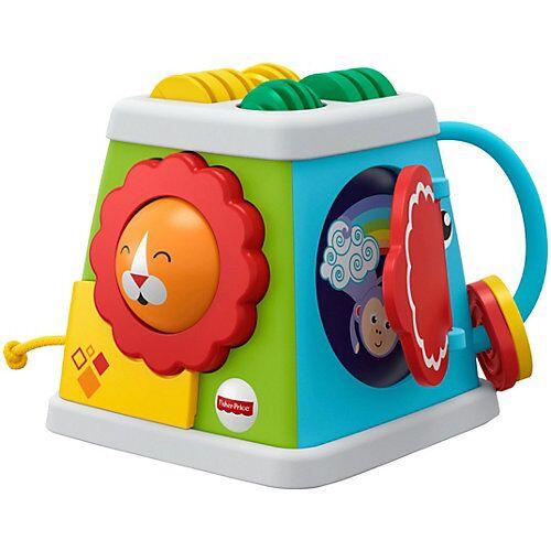 Mattel Fisher-Price Safari Entdecker-Spielwürfel, Baby-Spielzeug, Baby-Würfel
