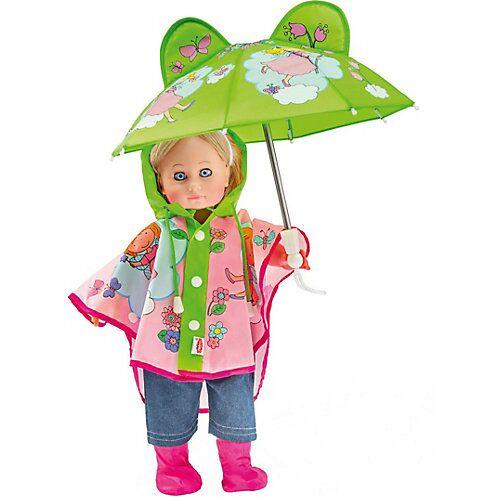 Heless Regen-Set mit Puppenschirm und Regenstiefeln Gr. 35-45 cm