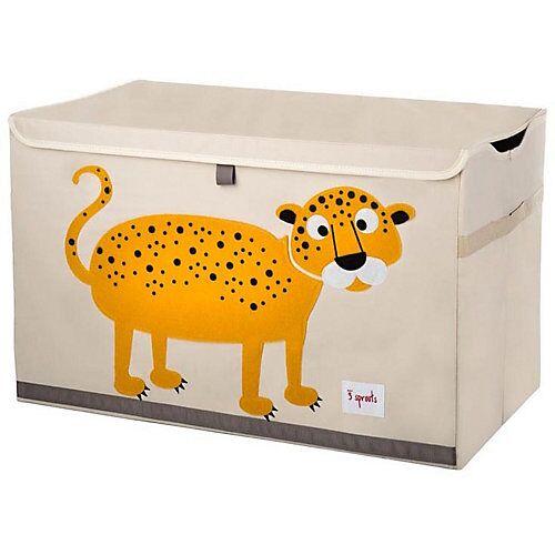3 Sprouts Aufbewahrungskiste Leopard, 38 x 61 cm orange