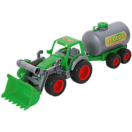 Wader Farmer Techn Traktor + Frontschaufel+Fassanhänger
