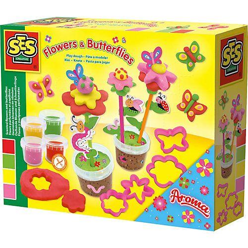 SES Creative Knete - Duftende Blumen und Schmetterlinge