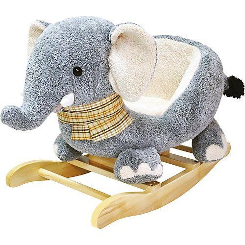 Bino Plüsch-Schaukelelefant