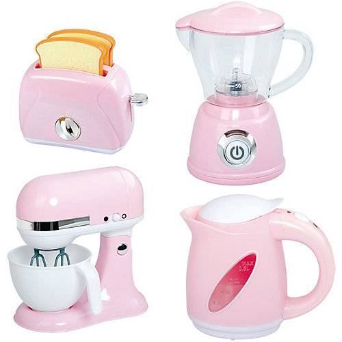Playgo BLEND AND COOK APPLIANCES - PINK (MY BOILING KETTLE B/O, MY BLENDER B/O, MY MIXER B/O, MY TOASTER)