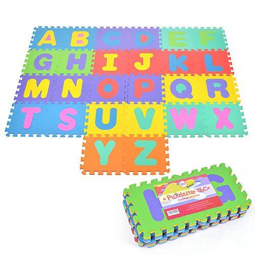 Pink Papaya Puzzlematte mit Buchstaben Puzzlestar ABC bunt