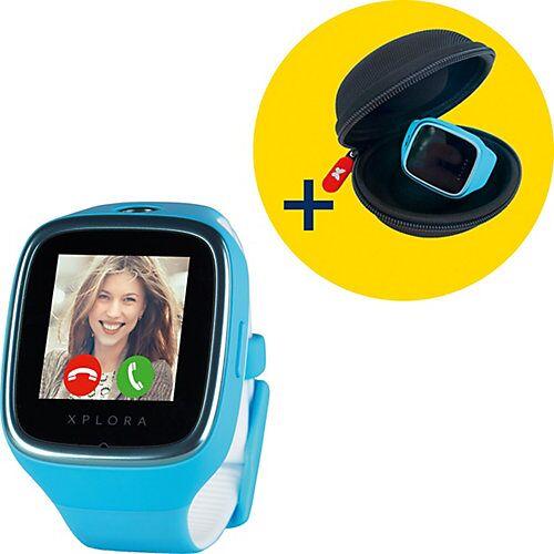 XPLORA Smartwatch/GPS-Handyuhr XPLORA 3S blau inkl. XPLORA Tasche