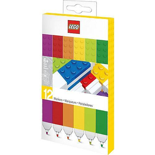 LEGO Filzstifte LEGO, 12 Farben bunt