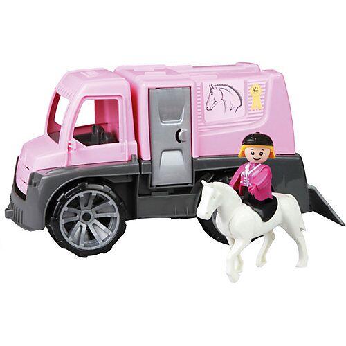 LENA TRUXX Pferdetransporter mit Zubehör schwarz/rosa