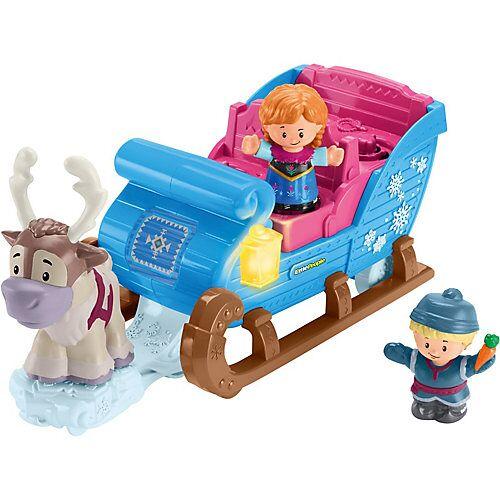 Mattel Fisher-Price Little People Frozen Kristoffs Schlitten, Eiskönigin Spielfiguren-Set