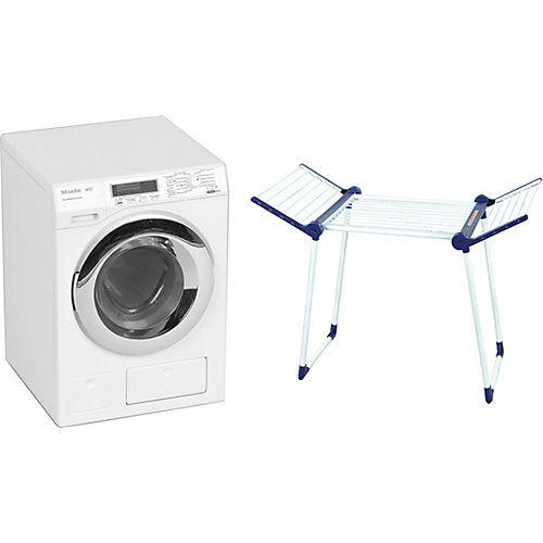 Klein Miele Waschmaschine 2013 inkl. LEIFHEIT Trockenständer weiß