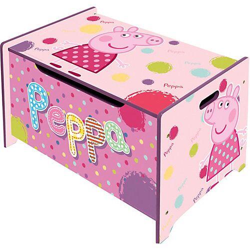 Peppa Pig Spielzeugtruhe aus Holz, Peppa Pig