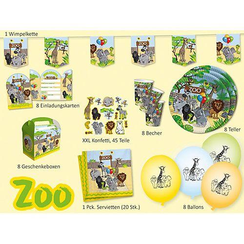 dh konzept Partyset Zoo, 62-tlg.