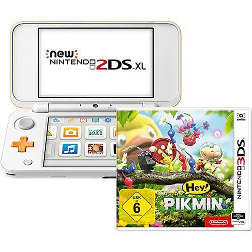 Nintendo New Nintendo 2DS XL Weiß + Orange inkl. Hey! PIKMIN