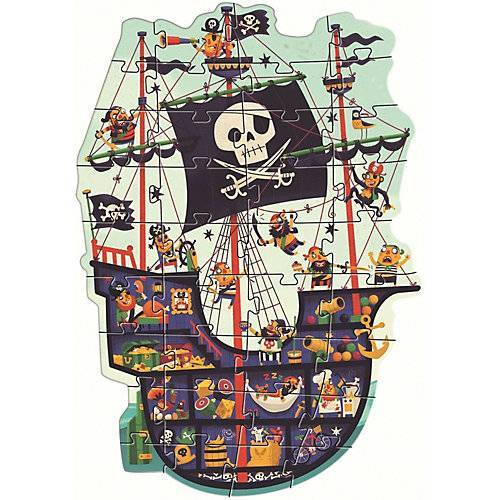 DJECO Riesen-Puzzle Piratenschiff, 36 Teile