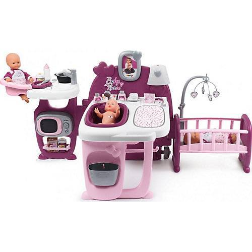 Smoby Puppen-Spielcenter rosa/lila