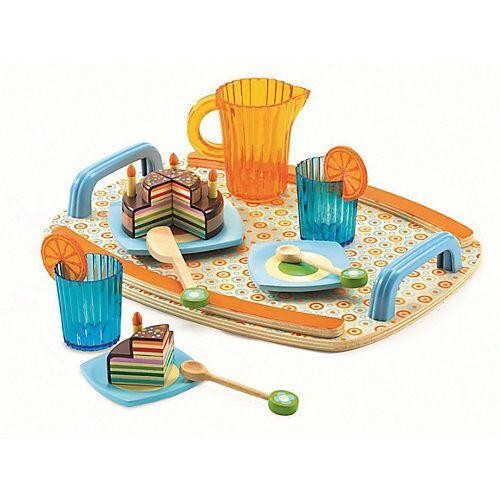 DJECO Rollenspiel Kinderküche - Geschirrset Gaby's Teeparty, 10-tlg. bunt