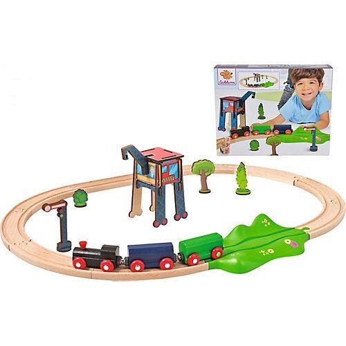 Eichhorn Eisenbahn - Set, Oval mit Zubehör, 18 tlg. mehrfarbig