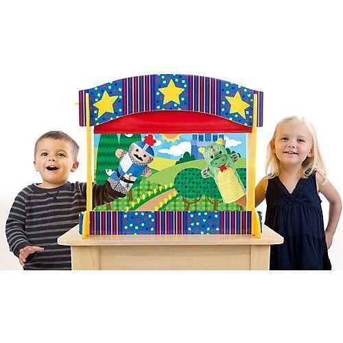 Melissa & Doug Tisch-Puppentheater aus Holz bunt